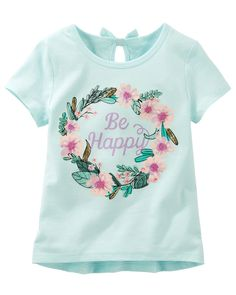 Kid Girl Bow-Back Embellished Tee from OshKosh B'gosh. Shop clothing & accessories from a trusted name in kids, toddlers, and baby clothes.