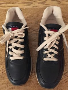 6554e0b704a84f from  15.99 - Tommy  Hilfiger Mens Leather Size 10 M Tennis Shoes