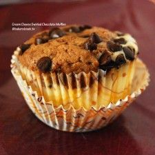 Cream Cheese Swirled Chocolate Muffins
