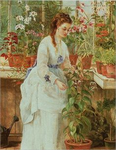 Jane Maria Bowkett-Young Lady in a Conservatory