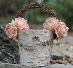 shabby chic baskets - Google Search