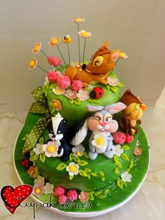 bambi cake. Ok, it's a cake not a pin cushion, but a great theme for making one!