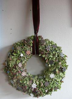 weihnachtlicher Türkranz - Sterne von kunstbedarf24 auf DaWanda.com