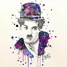 """Arte criada por <a href=""""http://instagram.com/paulayaang"""">@paulayaang</a>! Bom dia, o que vocês acham desse desenho de Charlie Chaplin?"""