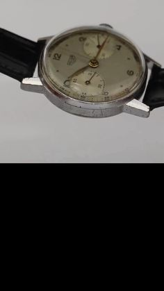 Another attractive base metal vintage Heuer, this time a reference 349 from the late 1930's to mid 1940's. It features a 36mm case, clean dial design and is powered by the Valjoux 22 manually wound movement - just back from a full service by our watchmaker. The case is in overall good condition although there are small signs of deterioration to the case finish as is often the way with base metal Heuer's of this era. That said its still very acceptable and looks great once on the wrist!