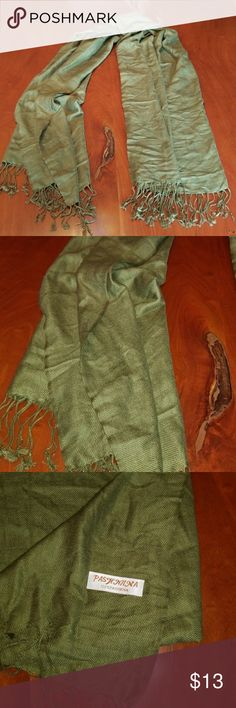 Olive Green Pashmina scarf Olive Green Pashmina scarf. EUC. Accessories Scarves & Wraps