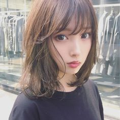 The design with detailed highlights in the weaving . Beautiful Japanese Girl, Japanese Beauty, Asian Beauty, Japanese Hair, Medium Hair Styles For Women, Short Hair Styles, Girl Haircuts, Girl Hairstyles, Prity Girl