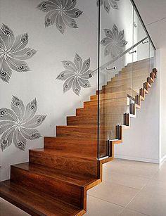 Cutting Edge Stencils - Peacock Headdress Stencil by Kim Myles >>> I love the staircase.