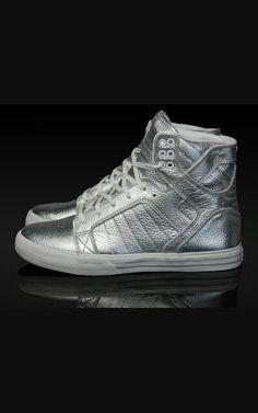 e5466ea5144f Supra High Tops! Shiny Silver