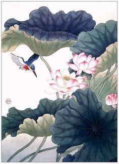 좋은 글과 함께 보는 연꽃그림(중국작가) 세상일에 경험이 깊지 않을수록 그 만큼 때묻지 않을 것이고 세상일에 경험이 깊을수록 남을 속이는 재주 또한 깊어진다 그러므로 군자는 능란하기보다는 차라리 소박한 것이 낫고 치밀하기보다는 Korean Painting, Chinese Painting, Chinese Art, Japan Painting, Lotus Painting, Korean Art, Asian Art, Lotus Flower Pictures, Gold Leaf Art