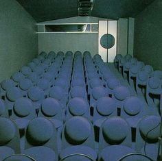 What happens when Pierre Cardin gets all theatrical. Pierre Cardin, Interior Architecture, Interior And Exterior, Vintage Interiors, Retro Aesthetic, Retro Futurism, Art Deco, Photo Book, Decoration