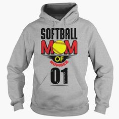 Softball mom of number 01, Order HERE ==> https://www.sunfrog.com/Names/Softball-mom-of-number-01-Hoodie-Sports-Grey.html?id=41088