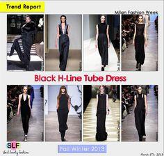 Black H-line Tube #Dress #Fashion Trend for Fall Winter 2013