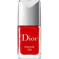 Dior Vernis Couture Colour Gel-Shine & Long-Wear Nail Lacquer ($27) ❤ liked on Polyvore featuring beauty products, nail care, nail polish, beauty, nails, makeup, dior, pandore, gel nail care and christian dior