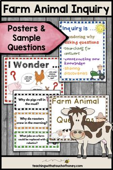 Based Learning Projects - Farm Animals With Sample Inquiry Questions, Inquiry Based Learning Projects - Farm Animals With Sample Inquiry Questions, Inquiry Based Learning Projects - Farm Animals With Sample Inquiry Questions, Farm Projects, Spring Projects, Research Projects, Projects For Kids, Inquiry Based Learning, Project Based Learning, Kids Learning, Animal Activities For Kids, Writing Activities