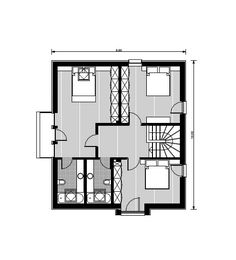For a typical family, a house with three bedrooms is the ideal home. Here are several small house plans with three bedrooms, with one or two floors. Tree Bedroom, Small House Plans, Second Floor, Ideal Home, Floor Plans, How To Plan, Bedrooms, House Ideas, Container