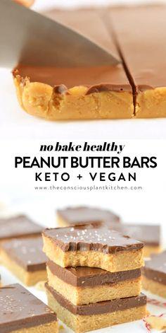 Peanut Butter Bars, Healthy Peanut Butter, Gluten Free Peanut Butter, Nutter Butter, Vegan Butter, Vegan Baking, Healthy Baking, Healthy No Bake, Healthy Gluten Free Snacks