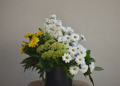 Fresh & bright arrangement of daisy chryssies, stock, gerbera daisy & celosia, all locally grown from Perth flower farms. Daisy Hill, Flower Farm, Gerbera, Flower Delivery, Perth, Farms, Bouquets, Floral Wreath, Bright