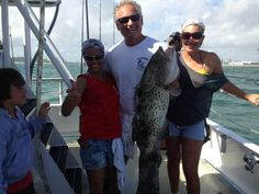 A very lucky gag grouper caught drift fishing in Fort Lauderdale.  They always bite great just after grouper season closes.  Let's go fishing! www.fishheadquarters.com