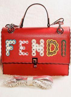 b7e01e8b6163 Fendi Kan I Small leather shoulder bag  fashion  clothing  shoes   accessories