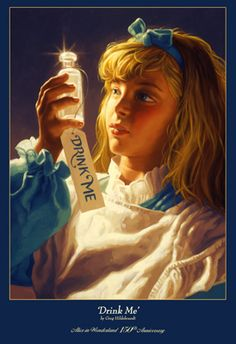 'Drink Me' - Alice in Wonderland - 150th Anniversary Limited Edition Print - Hand Signed and Hand Numbered by Greg Hildebrandt.
