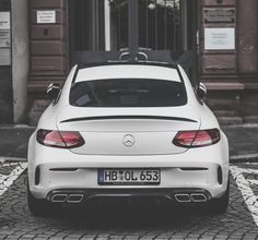 Rear of the year!  #Mercedes C 63 #AMG Coupe.