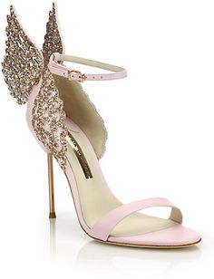 Evangeline Embellished Winged Leather Sandals