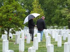 OIF veterans viewing graves at Arlington National Cemetery.
