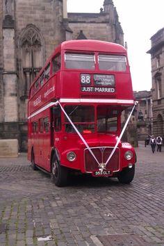Edinburgh Wedding Bus Edinburgh, Wedding, Valentines Day Weddings, Weddings, Marriage, Chartreuse Wedding