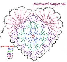 Beautiful Jewelry Unique 44 Ideas for crochet heart amigurumi. Beautiful Jewelry Unique 44 Ideas for crochet heart amigurumi Mode Crochet, Crochet Diy, Crochet Doily Patterns, Crochet Diagram, Crochet Chart, Crochet Squares, Thread Crochet, Crochet Gifts, Crochet Motif