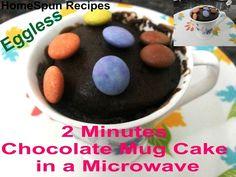 Yummy Chocolate cake in a mug...bake in 2 minutes....