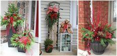 Magia unei decoratiuni exterioare reusite de Craciun Ladder Decor, Outdoor Structures, Exterior, Plants, Christmas, Home Decor, Magick, Xmas, Decoration Home