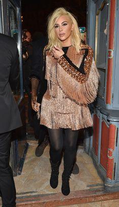 Kim Kardashian Photos: Balmain : Aftershow Dinner - Paris Fashion Week Womenswear Fall/Winter 2015/2016