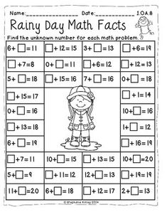 A Splash of MATH - 24 Print and Go Sheets by Stephanie Kinley Ruffner Math Addition Worksheets, 2nd Grade Math Worksheets, School Worksheets, 1st Grade Math, Go Math, Math Literacy, Math For Kids, Math Classroom, Numeracy