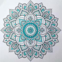 Today's Mandala! #marker #mandala #markers #mandalas #color #colors #coloring #colour #teal #tealcolor #blue #colorfulmandala @mandalaslovers @mandalapassion