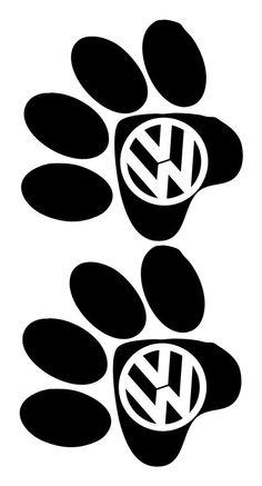 Volkswagen Vw Vinyl graphic logo sticker badges dog paws t4 t5 bay splitty wedge | eBay