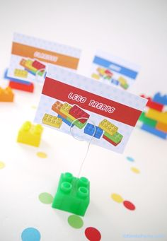 Lego inspired bricks birthday party! Perfect for girls or boy any age! Love the DIY decorations and printables!!