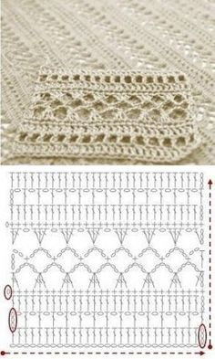 Tutorial: Crochet chart reading Explained nicely for a beginner.Discover thousands of images about Tutorial: Crochet chart readingCROCHET - Lovely Feminine Wide Boarder Lattice Stitch Pattern (Asian Pattern, Found on Russian Website (allmyhobby. Poncho Crochet, Crochet Shawl Diagram, Crochet Stitches Chart, Mode Crochet, Crochet Lace Edging, Crochet Motifs, Filet Crochet, Crochet Doilies, Crochet Patterns