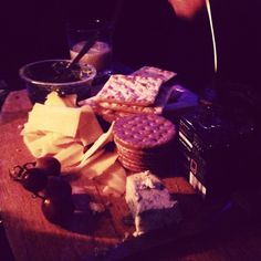 Cheese board in candlelight