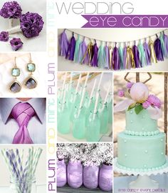 Plum and Mint Inspiration Board via eye candy creative studio #plumwedding #mintwedding #plumandmint