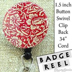 Hot Pink floral vintage paper swivel clip by GypsyGoods for $6.95