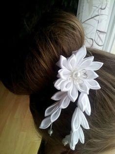 Girl headband, kanzashi, kanzashi flowers Haarhadel satin flowers hair jewelry headpiece kanzashi