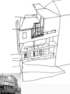 David Chipperfield, sketch, spain house