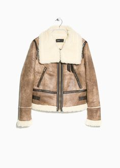 Faux shearling-lined jacket MNG