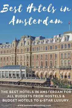 Best Hotels in Amsterdam - Reviewed! These are the best hotels in Amsterdam for all budgets and tastes, including hostels, budget hotels in Amsterdam and the most luxurious 5-star hotels in Amsterdam. All of these hotels have been tried, tested and reviewed by real travellers. If you need to find a hotel in Amsterdam, this list of the best hotels in Amsterdam will help you find the perfect Amsterdam accommodation for your Amsterdam travel. #Amsterdam #Hotels #Hotel #Accommodation #Hostel European Travel Tips, Europe Travel Guide, Travel Abroad, Travel Guides, Best Hotels Amsterdam, Amsterdam Travel Guide, Outfits Winter, Outfits Spring, Europe Destinations