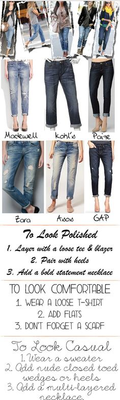 20 Fashion and Style Tips On How To Wear Boyfriend Jeans | Gurl.com