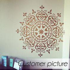 Mandala Art Schablone  Möbel Stencil  Wandmalerei Schablonen
