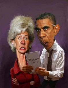 #caricature of Barack Obama