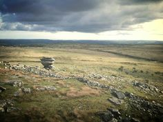 """Bodmin Moor - """"Walking on Bodmin Moor. Big skies and not a soul around. Had it all to myself. Fantastic.The interesting stone formation you see is called The Cheesewring."""" by Fini La Plonge"""