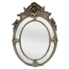 Mirror Oval Silver 5.5' Feet Tall New French Styled Free shipping